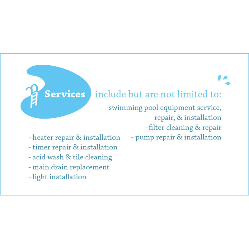 Swimming Pool Service Business Cards : Abg pool service business card design by arpidesign in