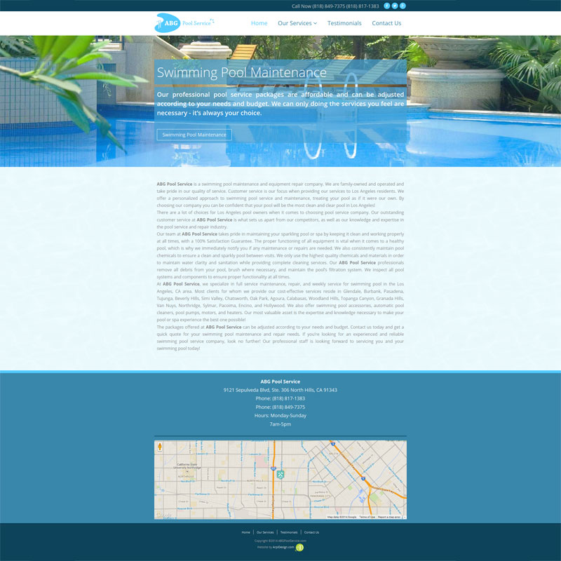 Website design by in for Pool design website