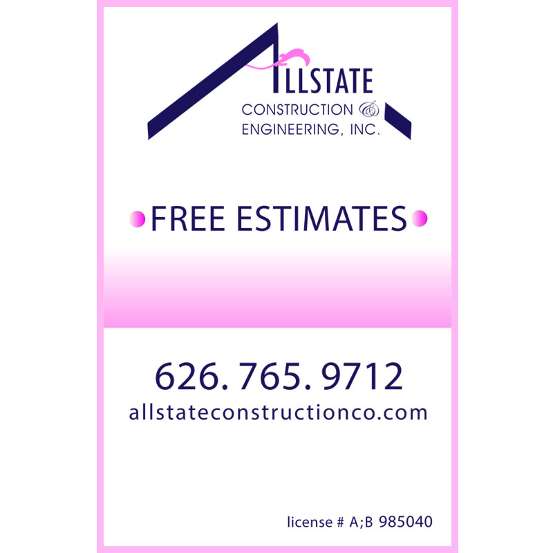 Allstate Construction Sign