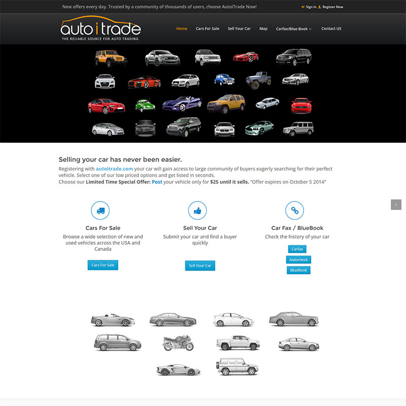 AutoiTrade.com Website Design AutoiTrade Logo Design by ArpiDesign.com in Glendale CA
