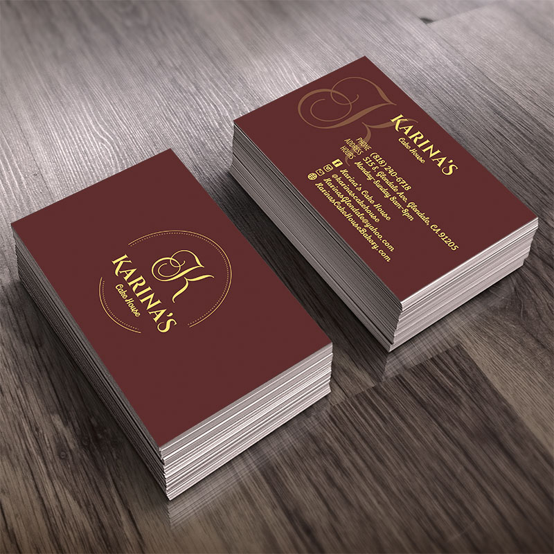 Bakery business card design in glendale reheart Gallery