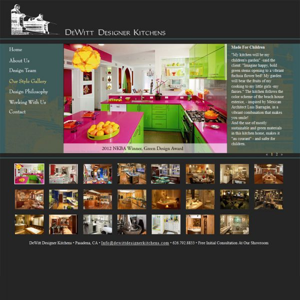 Web Development for DewittDesignerKitchens.com