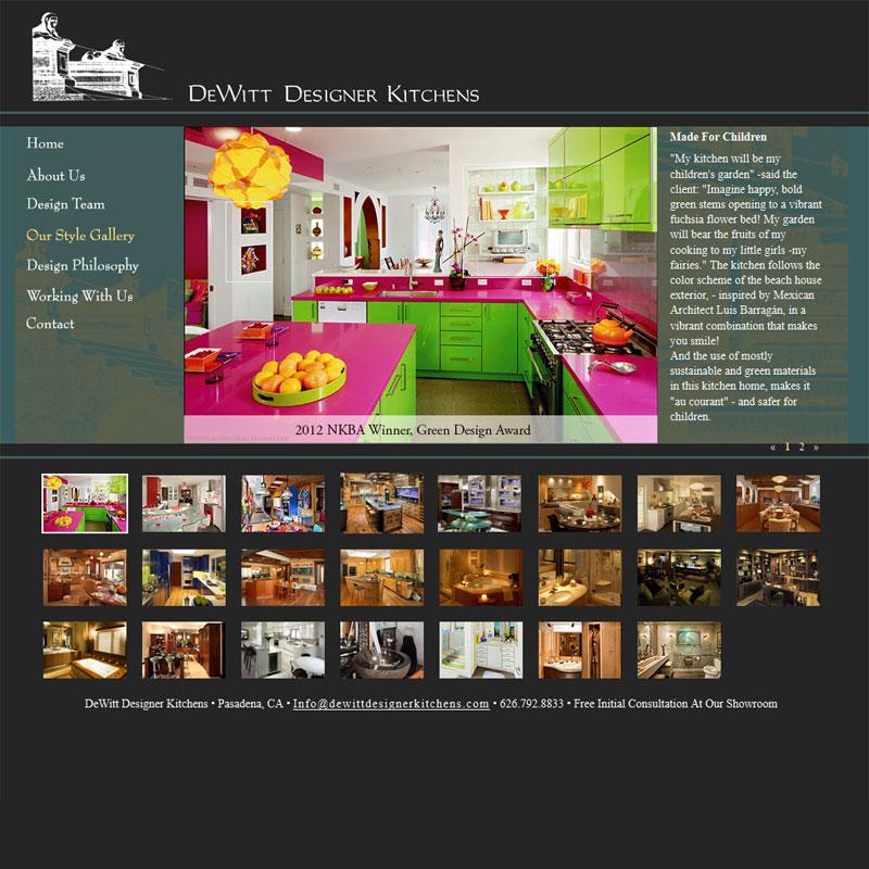 Web Development for DewittDesignerKitchens.com