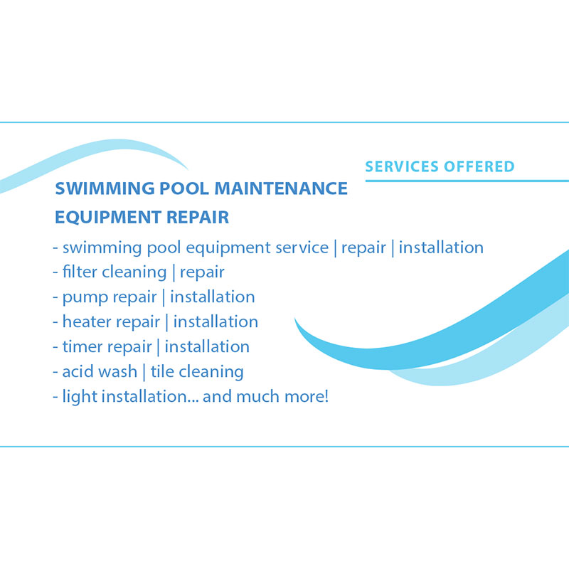 elata pool service business card design arpidesigncom
