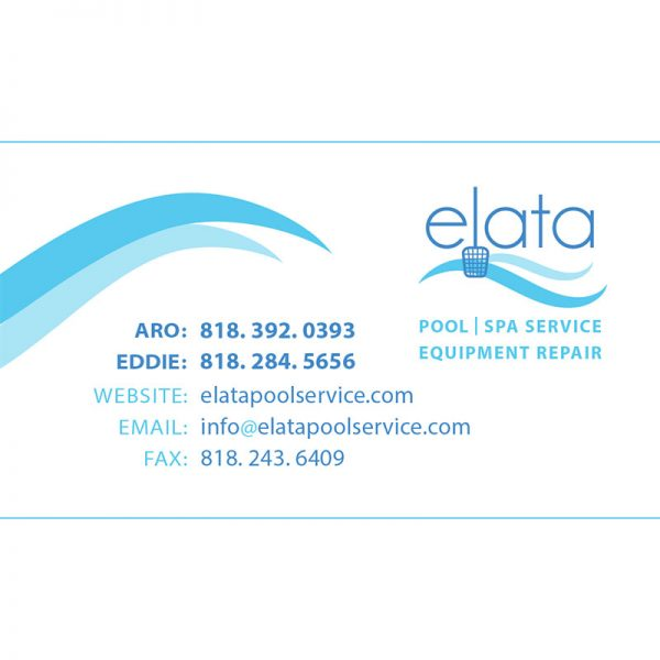 Elata Pool Service Business Card Design - Front