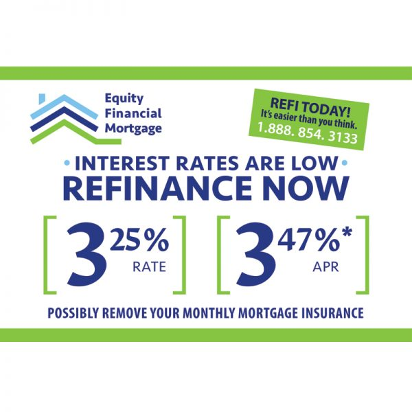 Finance Company Postcard Design for Equity Financial Mortgage