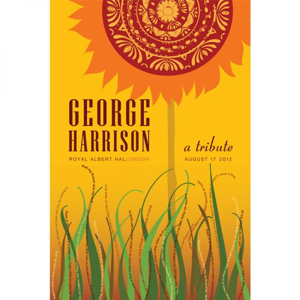 Poster design for George Harrison tribute concert
