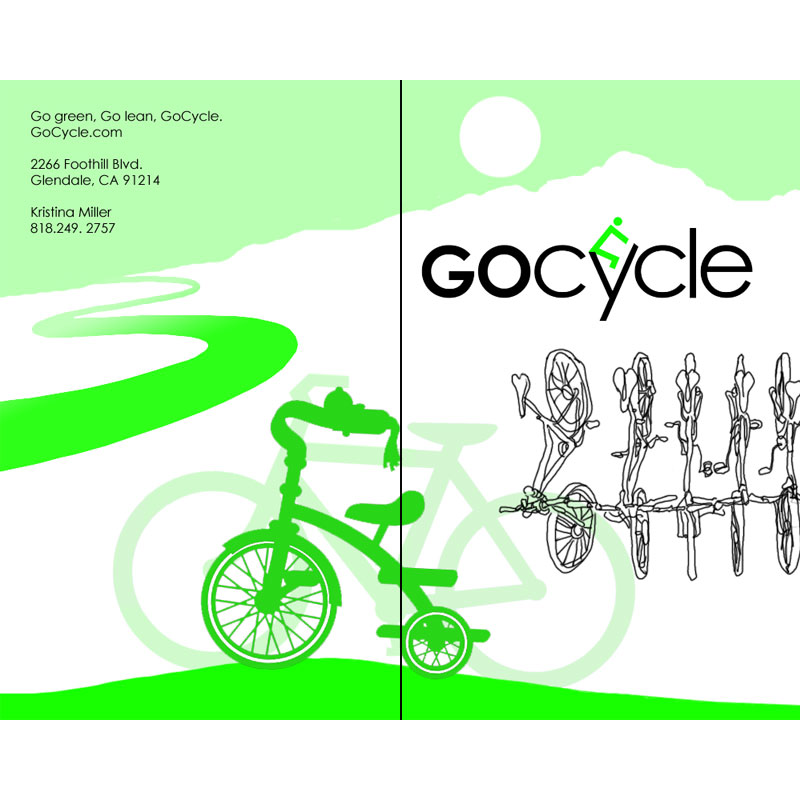 The outside of GoCycle's brochure