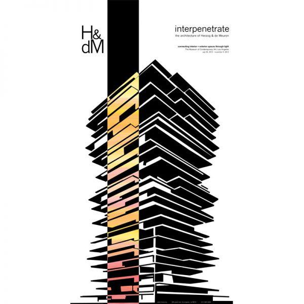 Poster design for a show featuring Herzog and de Meuron