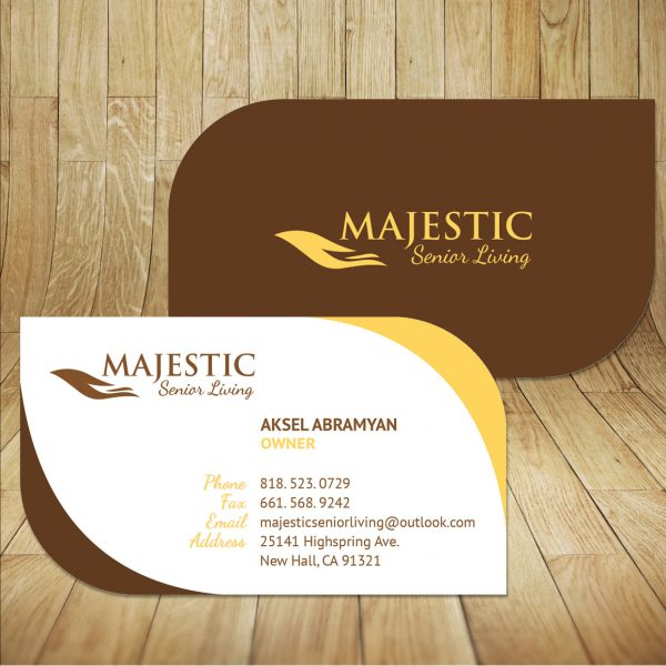 Home Health Care Business Card Design In Glendale CA