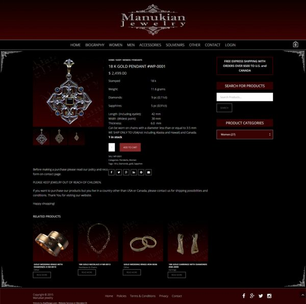 Jewelry Website Design in Los Angeles