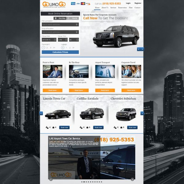Limo Service SEO and Online Marketing for GoLimoGo in Los Angeles