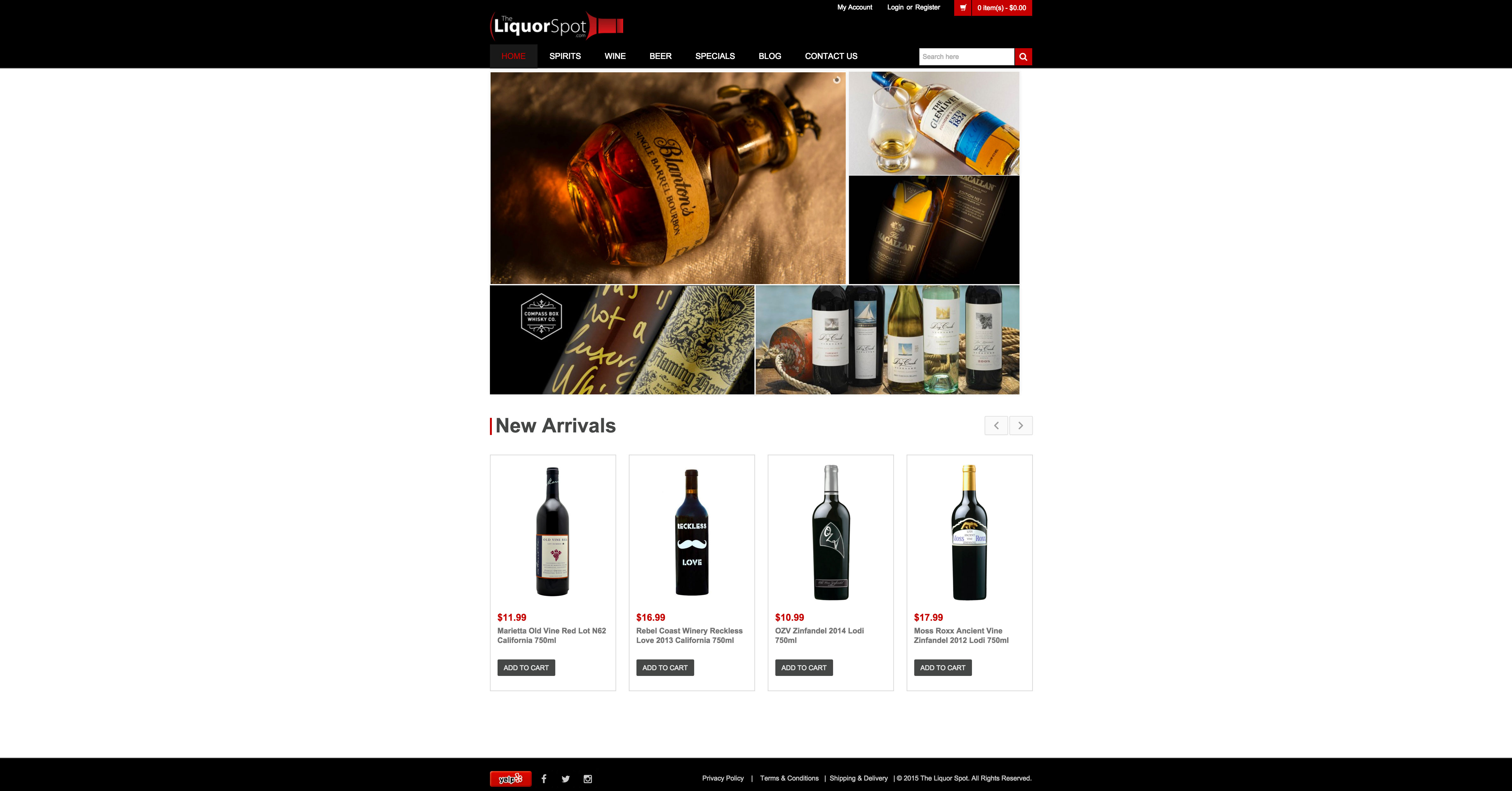 Liquor Store Website Design and SEO in Los Angeles