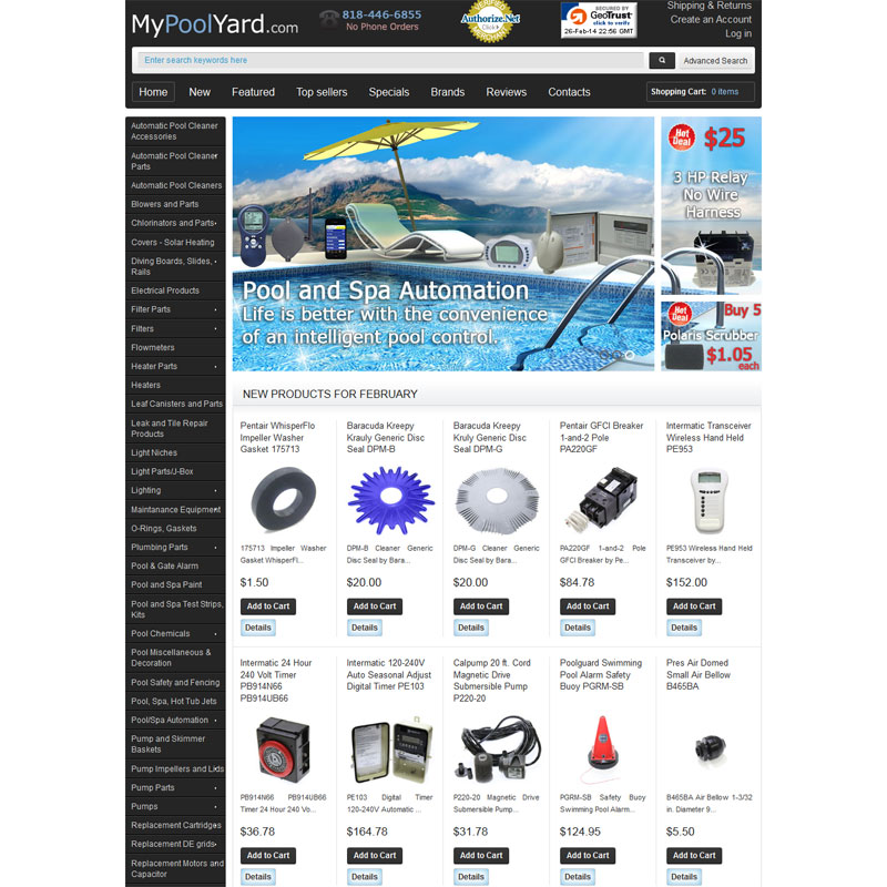 Web Design for MyPoolYard.com