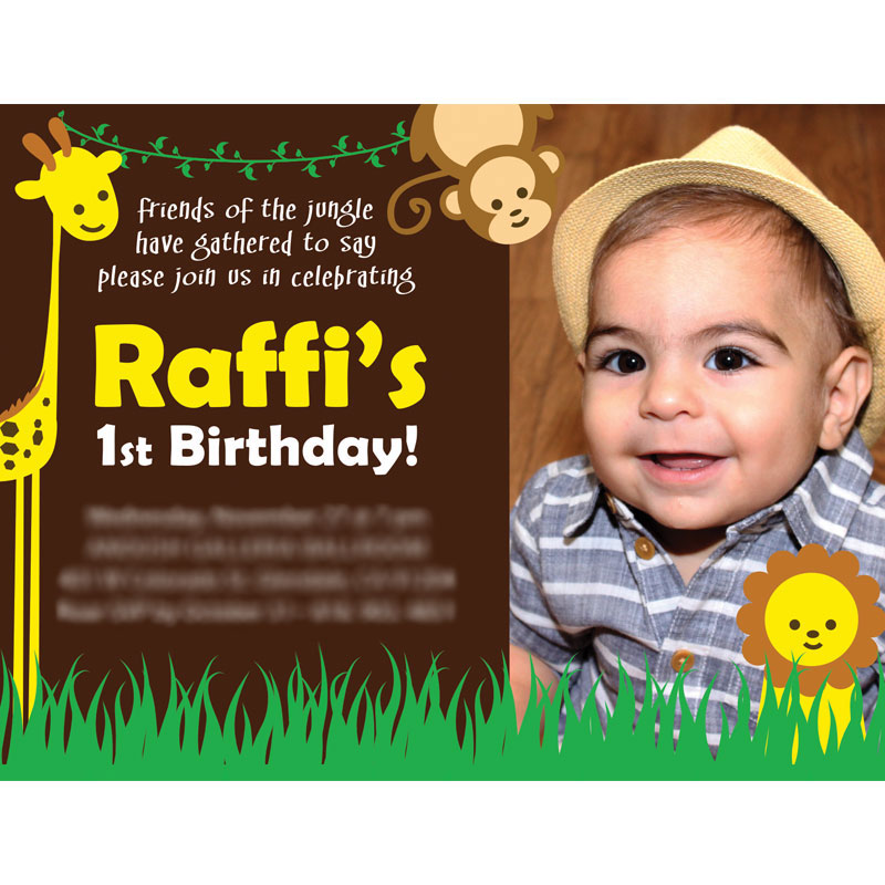 Raffis 1st birthday card design by arpidesign raffis 1st birthday card design filmwisefo Gallery