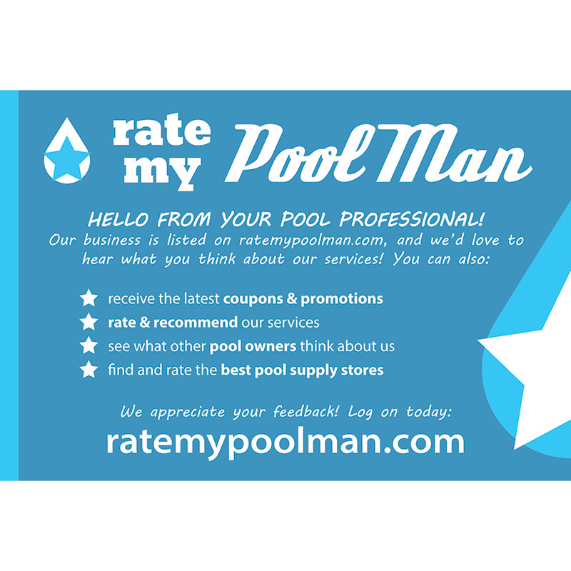 Pool Owner Postcard Mailer Design for RateMyPoolMan.com