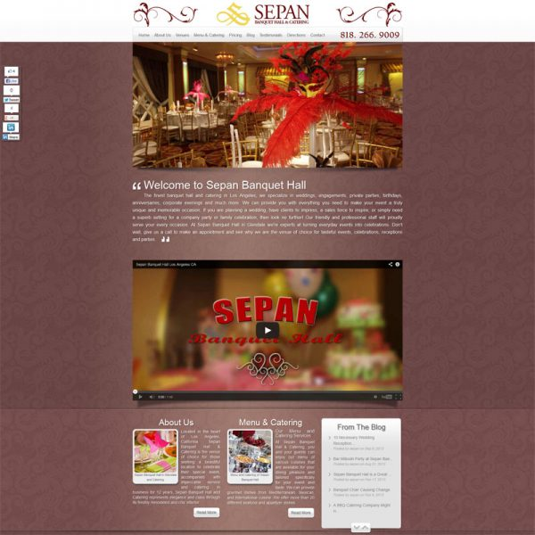Web Design for SepanHall.com
