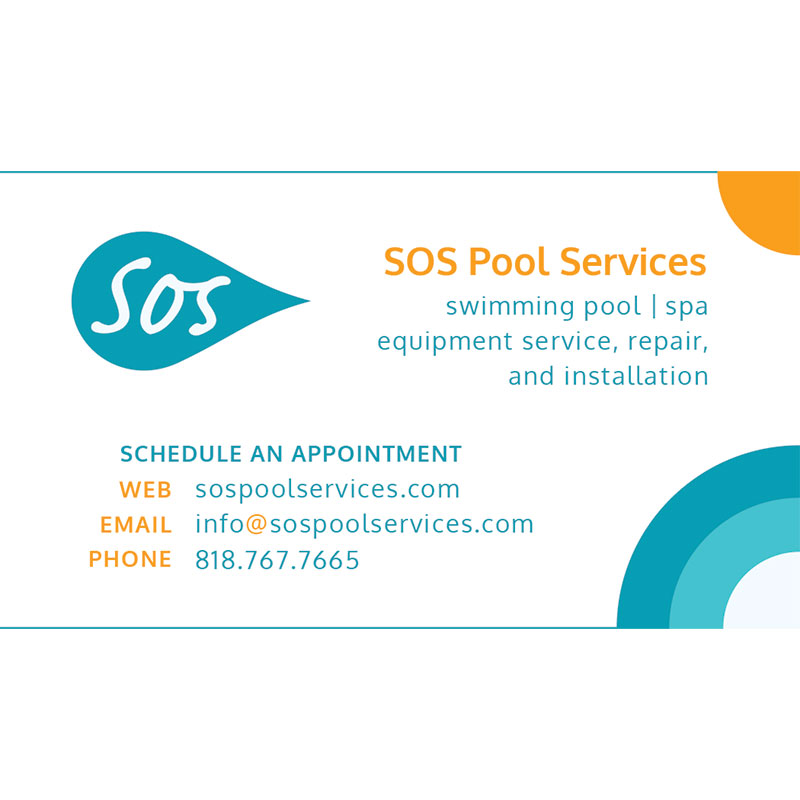 Sos pool services business card design arpidesigncom for Pool service business cards