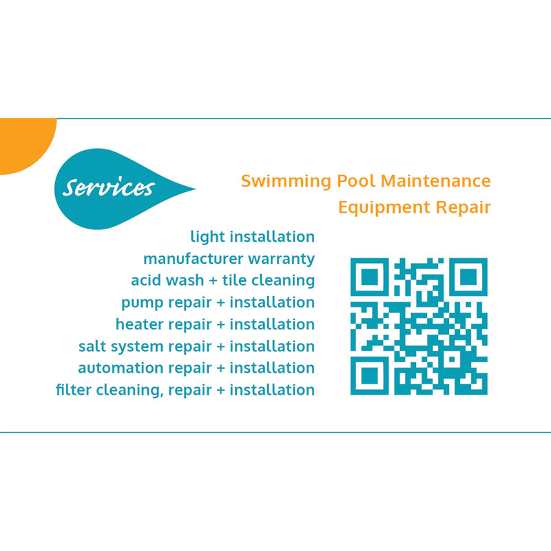 SOS Pool Services Business Card Design - ArpiDesign.com