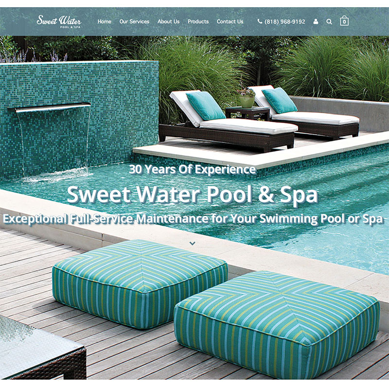 SweetWaterPoolSpa.com Website Design and Oline Marketing by ArpiDesign.com in Glendale, CA