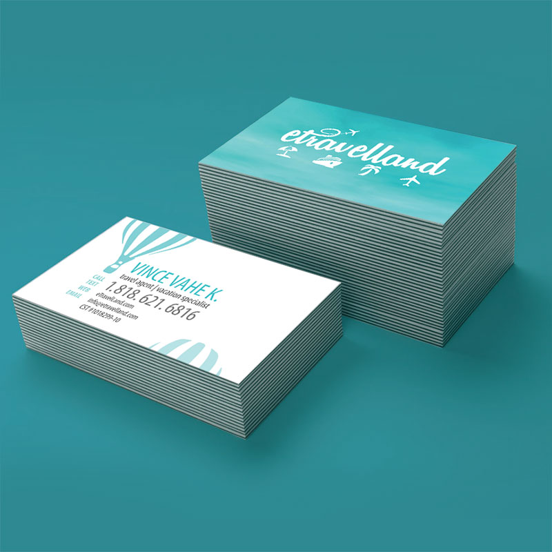 Travel agency business card design colourmoves