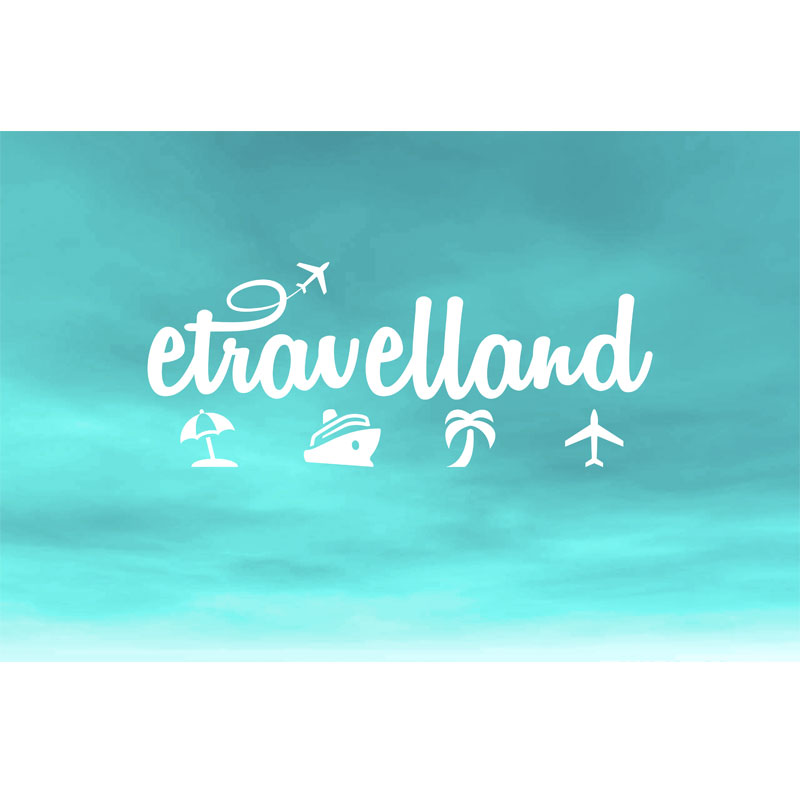 Travel Agency Logo Design for eTravelland in Burbank
