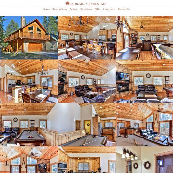 Vacation Cabin Rental Website Design in Los Angeles