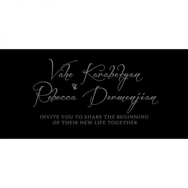 Vahe and Rebecca's Wedding Invitation