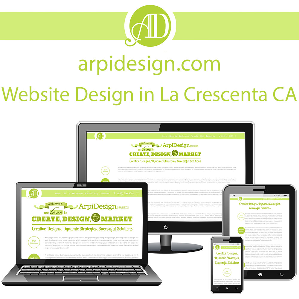 Website Design in La Crescenta CA