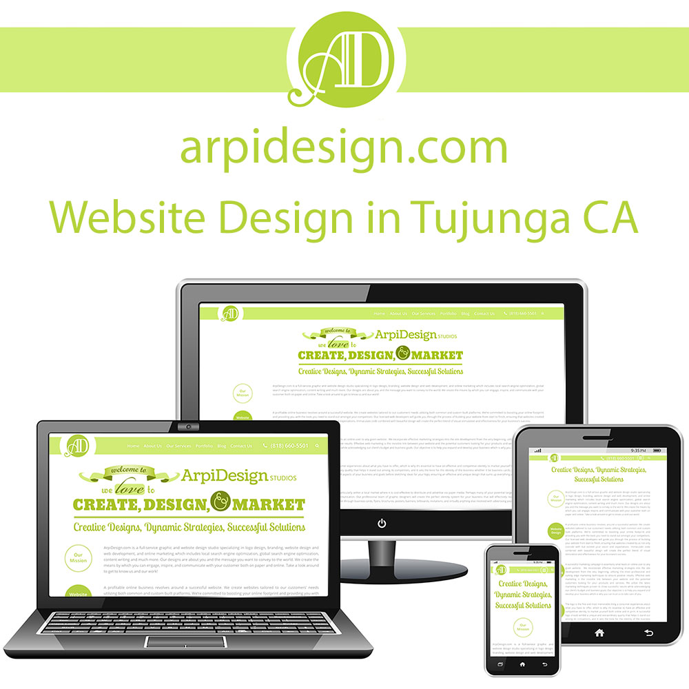 Website Design in Tujunga CA