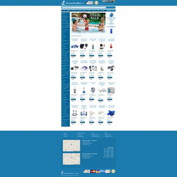 Webiste Design and Web Development for DiscountPoolMart.com