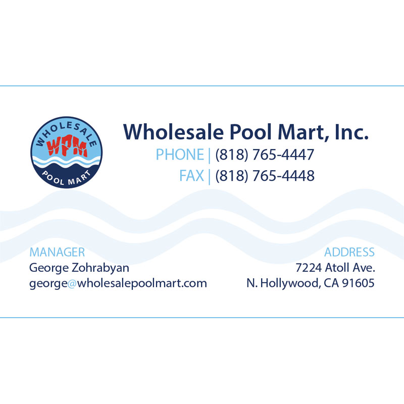 Wholesale Pool Mart Business Card Design